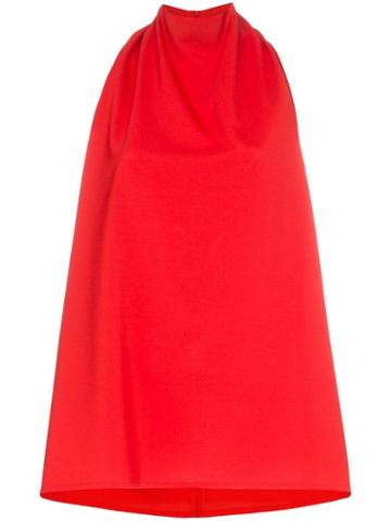 Beaufille High Neck Mallo Blouse - Red