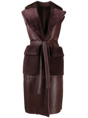 Blancha. Sleeveless Coat - Purple