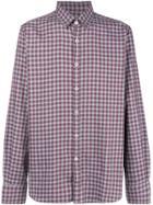 Canali Check Shirt - Red