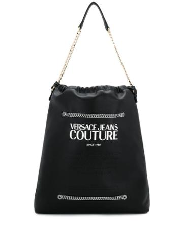 Versace Jeans Couture Adjustable Tote Backpack - Black