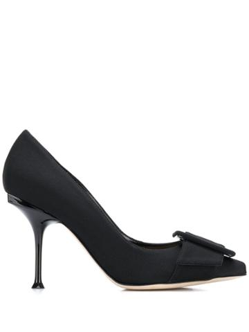 Sergio Rossi 90mm Buckled Pumps - Black