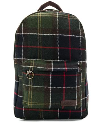 Barbour Checked Front Pocket Backpack - Green