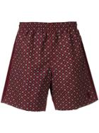 Alexander Mcqueen Printed Swimming Shorts - Red