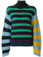 Kenzo Striped Knitted Jumper - Blue