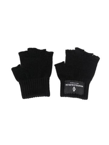 Marcelo Burlon County Of Milan Kids Teen Fingerless Gloves - Black