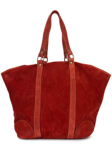 Guidi - Oversized Tote Bag - Men - Horse Leather - One Size, Red, Horse Leather