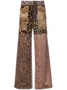 Oloapitreps Triple Leopard Trousers - Brown