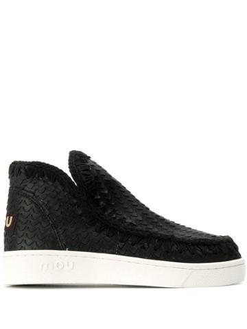 Mou Textured Eskimo Boots - Black
