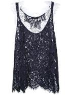 Goen.j Layered Lace Vest - Blue