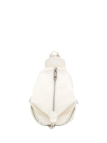 Rebecca Minkoff Snakeskin Julian Backpack - White