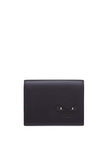 Fendi Bag Bugs Tri-fold Wallet - Black