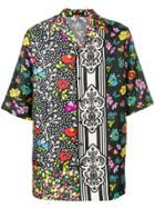 Versace Patchwork Shirt - Black