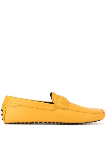 Tod's Logo Detail Loafers - Yellow