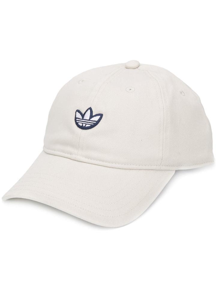 Adidas Logo Baseball Cap - White