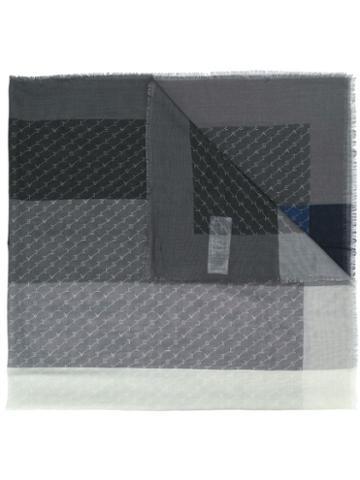 Stella Mccartney Monogram Pattern Scarf - Grey