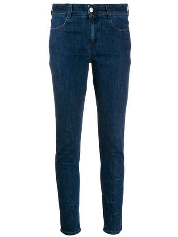 Stella Mccartney All Is Love Star-embossed Skinny Jeans - Blue
