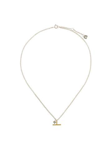 Maya Magal Moonstone Charm Necklace - Metallic