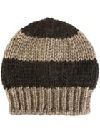 Danielapi Striped Knit Beanie, Adult Unisex, Brown, Polyamide/wool/alpaca