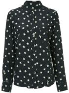 Chanel Vintage Star-print Longsleeve Top - Blue