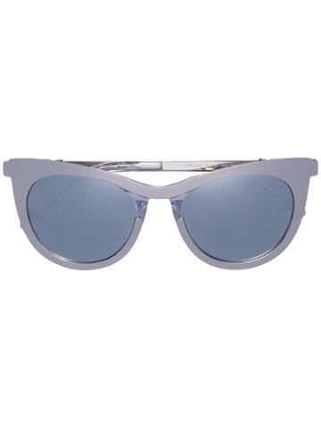Carolina Herrera Cat Eye Sunglasses - Metallic