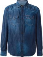 Diesel Western Denim Shirt, Men's, Size: Large, Blue, Cotton