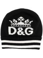 Dolce & Gabbana Logo Knitted Beanie Hat - Black