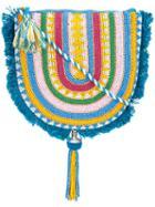 Figue - Striped Luna Pouch - Women - Cotton - One Size, Blue, Cotton