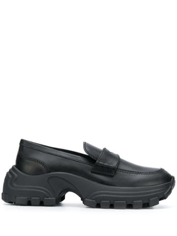 Miu Miu Chunky Sole Penny Loafers - Black