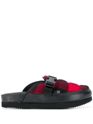 Woolrich Plaid Slippers - Black