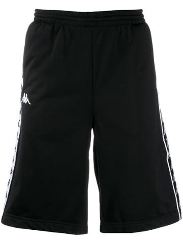 Kappa Side Logo Track Shorts - Black