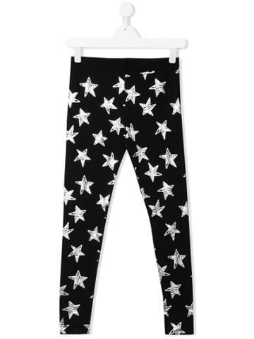 Stella Mccartney Kids Star Print Leggings - Black