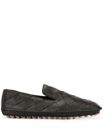Bottega Veneta Intrecciato Slippers - Black