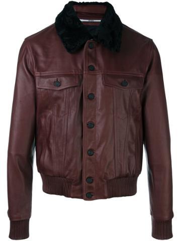 Kenzo Shearling Collar Bomber Jacket