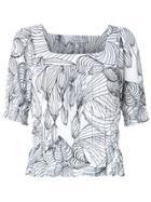 Isolda Printed Blouse - White