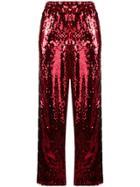 Faith Connexion Faith Connexion X Kappa Sequin Trousers - Red