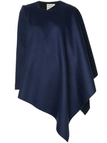 Maison Rabih Kayrouz Asymmetric Cape-style Jacket - Blue