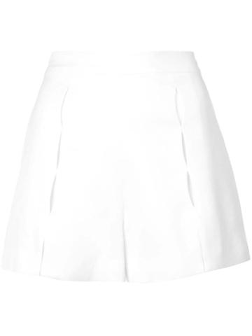 Alexis Pleated Short Shorts - White