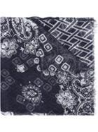 Fashion Clinic Mosaic Printed Scarf, Men's, Blue, Cotton