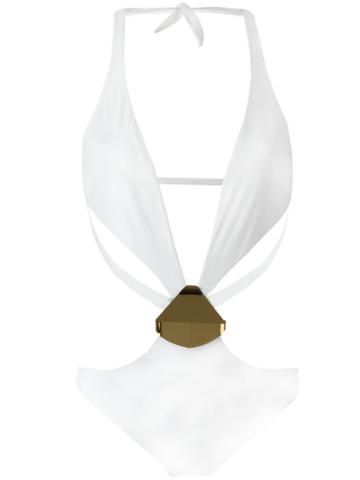 Moeva Linda Swimsuit, Women's, Size: Medium, White, Polyamide/spandex/elastane