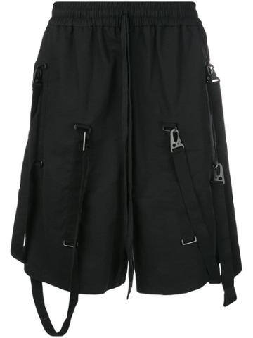 Komakino Strap Detail Shorts - Black