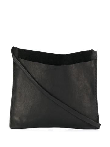 Guidi Pouch Messenger Bag - Black