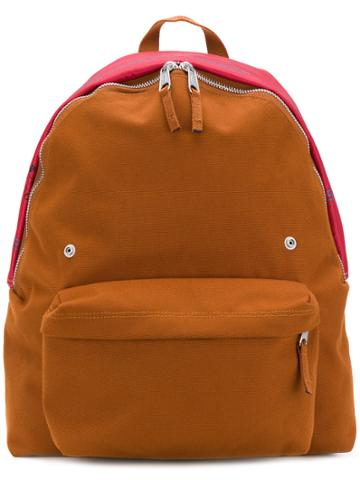 Raf Simons Two-tone Zipped Backpack - Brown