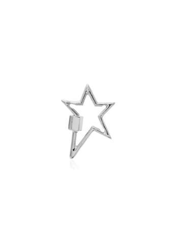 Marla Aaron Star-shape Lock Charm - Metallic