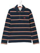 Boss Kids Teen Striped Polo Shirt - Blue