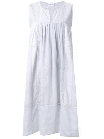 Megan Park Pintuck Stripe Dress