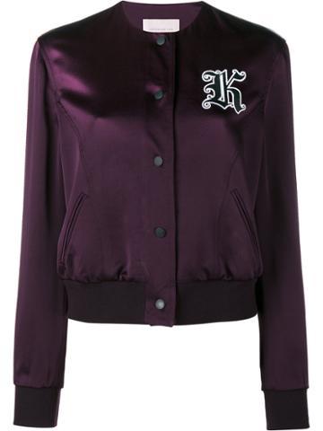 Christopher Kane Cady Bomber Jacket, Women's, Size: 42, Pink/purple, Acetate/viscose/polyester