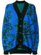 Dsquared2 Floral Button Cardigan - Blue