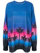 Marcelo Burlon County Of Milan Palms Sweatshirt - Blue