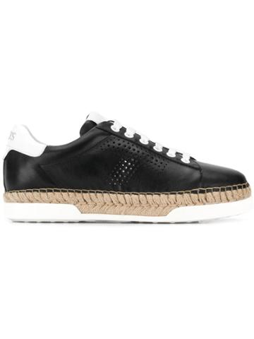 Tod's Raffia-trim Sneakers - Black