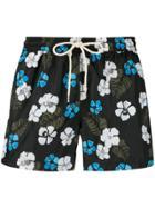Nos Beachwear Floral Print Swim Shorts - Black